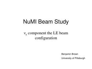 NuMI Beam Study