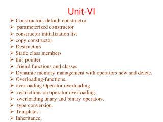 Unit-VI