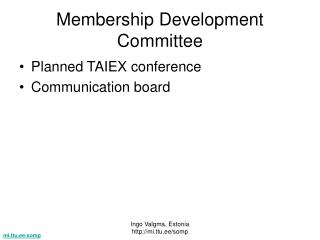 Membership Development Committee