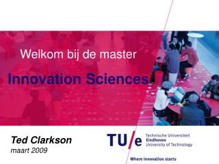 Welkom bij de master  Innovation Sciences