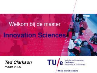 Welkom bij de master  Innovation Sciences