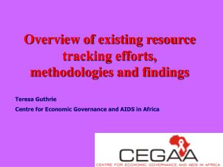 Overview of existing resource tracking efforts,  methodologies and findings