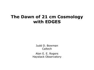 21 cm cosmology