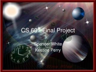 CS 601 Final Project