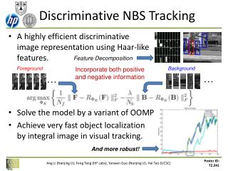 Discriminative NBS Tracking