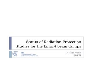Status of Radiation Protection Studies for the Linac4 beam dumps