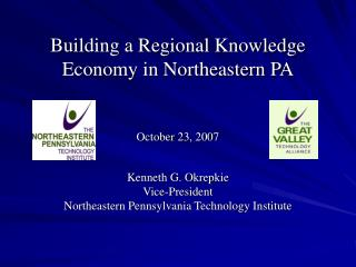 Building a Regional Knowledge Economy in Northeastern PA