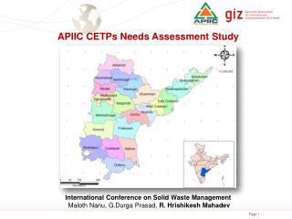 APIIC CETPs Needs Assessment Study