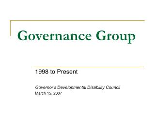Governance Group