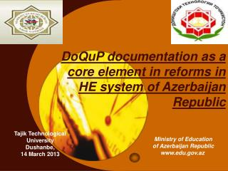 DoQuP documentation as a core element in reforms in HE system of Azerbaijan Republic