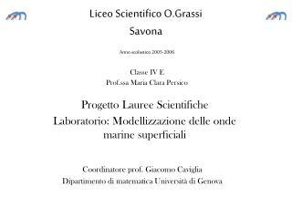 Liceo Scientifico O.Grassi Savona
