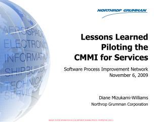 Software Process Improvement Network November 6, 2009