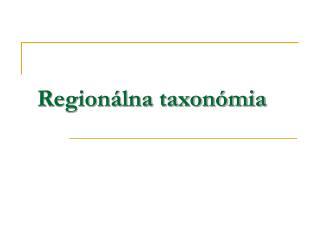 Region�lna taxon�mia