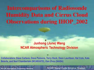 Intercomparisons of Radiosonde Humidity Data and Cirrus Cloud Observations during IHOP_2002