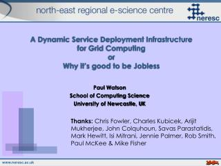 A Dynamic Service Deployment Infrastructure for Grid Computing or Why it's good to be Jobless