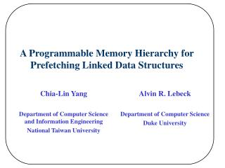 A Programmable Memory Hierarchy for Prefetching Linked Data Structures