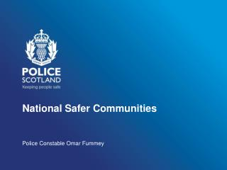 National Safer Communities
