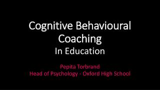 Cognitive Behavioural Coaching