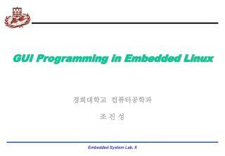 GUI Programming in Embedded Linux