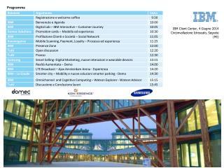 IBM Client Center, 4 Giugno 2014  Circonvallazione Idroscalo, Segrate (MI)