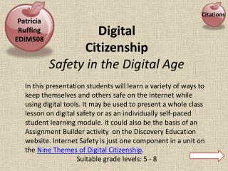 Digital  Citizenship  Safety in the Digital Age