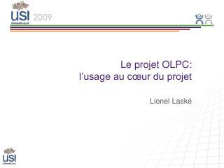 Le projet OLPC:  l'usage au cœur du projet
