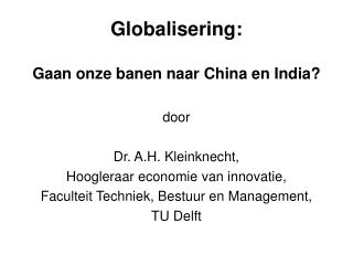 Globalisering: