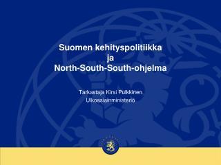 Suomen kehityspolitiikka  ja  North-South-South-ohjelma