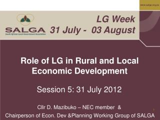 Role of LG in Rural and Local Economic Development