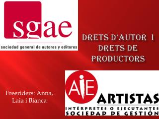 Drets d'autor   i  drets  de  productors