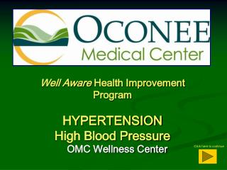 Well Aware  Health Improvement Program HYPERTENSION High Blood Pressure