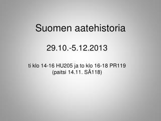 Suomen aatehistoria