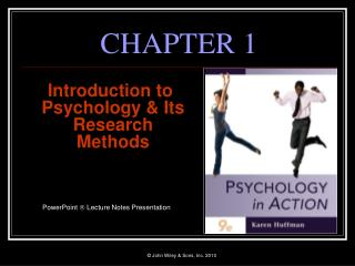 Introduction to Psychology  Its Research Methods    PowerPoint  Lecture Notes Presentation