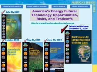 America's Energy Future: Technology Opportunities, Risks, and Tradeoffs