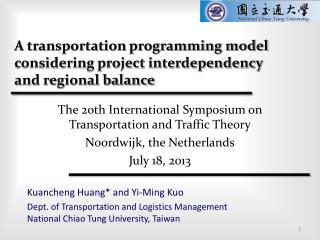 A transportation programming model considering project interdependency and regional balance