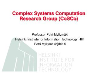 Complex Systems Computation Research Group (CoSCo)
