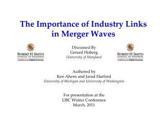 The Importance of Industry Links in Merger Waves
