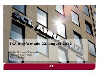 IKA e-erfa møde 23. august 2012