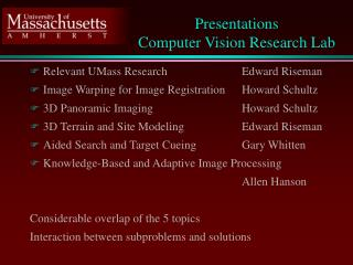Presentations  Computer Vision Research Lab