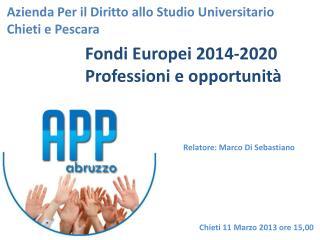 Azienda Per il Diritto allo Studio Universitario  Chieti e Pescara