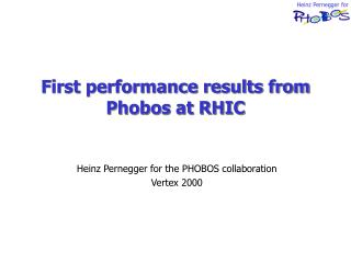 First performance results from Phobos at RHIC
