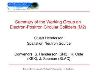 Summary of the Working Group on Electron-Positron Circular Colliders (M2)