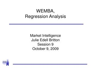 WEMBA,  Regression Analysis