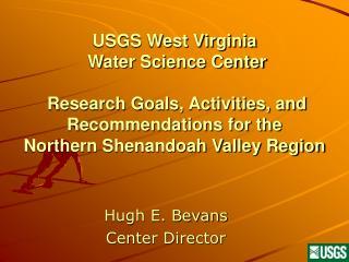 Hugh E. Bevans Center Director