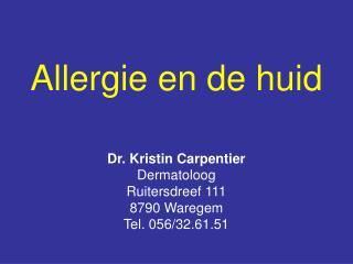 Allergie en de huid