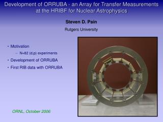 Development of ORRUBA - an Array for Transfer Measurements at the HRIBF for Nuclear Astrophysics