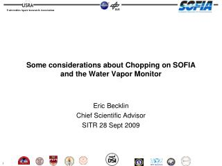 Some considerations about Chopping on SOFIA and the Water Vapor Monitor