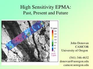 High Sensitivity EPMA: Past, Present and Future