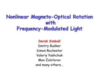 Nonlinear Magneto-Optical Rotation  with  Frequency-Modulated Light