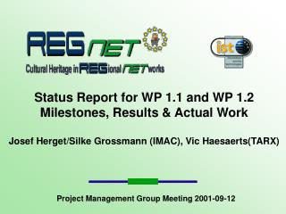 Project Management Group Meeting 2001-09-12